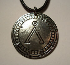 Stargate Sg-1 Earth Symbol in Gate Necklace Rope Chain Free Shipping Tv