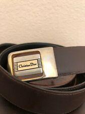 Vtg Christian Dior Reversible Black/Brown Belt Gold and Silver tone buckle Sz 38