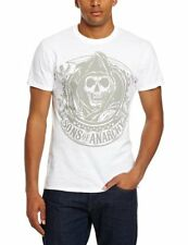 Sons Of Anarchy - Reaper Logo White T-Shirt Homme Man Taille Size L PLASTIC HEAD