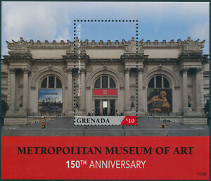 Grenada 2021 MNH Architecture Stamps Metropolitan Museum of Art Museums 1v S/S