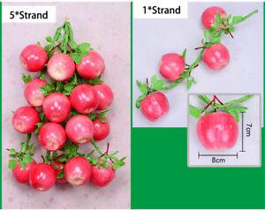 5 Strand Artificial Plants Ornament Fruits Vegetables Garland Hanging Decoration