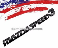 1 - NEW 3D MAZDASPEED Black Badge Emblem Mazda Speed 3 Three MAZDASPEED3 BLACK