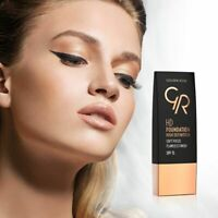 Golden Rose HD Foundation 30ml SPF15 Smooth finish Blur Vitamin E CHOOSE SHADE