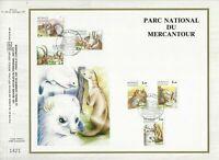 FEUILLET CEF 1er JOUR MONACO PARC NATIONAL DU MERCANTOUR 1986