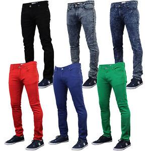 Mens Skinny Jeans Soul Star Slim Fit Stretch Denim Pants Trousers Tapered New
