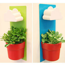 Blue Rainy Flower Pot Hanging Wall Mount Planters Rainy Pot with Seeds 3101_Blue