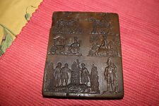 Vintage Stone Carving Crusades Christianity Medieval Times-6 Scenes-Priests-LQQK