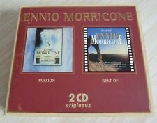 RARE COFFRET CARTON 2 CD ORIGINAUX ENNIO MORICONE BOF MISSION BEST OF