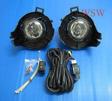 FIT NISSAN NAVARA UTE D40 05 06 07 08 FOG LAMP SPOT LIGHT BLACK COVER BULBS WIRE