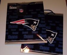 Pair of NFL New England Patriots Medium Gift Bags (2 bags)