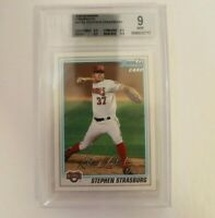 2010 Bowman Prospects Stephen Strasburg BGS 9 Rookie RC Nationals