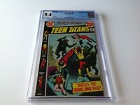 TEEN TITANS 43 CGC 9.4 WHITE PAGES GREAT COVER LILITH BACKUP DC COMICS