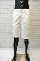 TOMMY HILFIGER Uomo Bermuda Tasche Bianco Taglia 34 ( 48 ) Pantalone Short Men