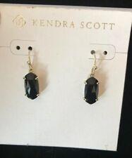 Kendra Scott Black/Gold Lemmi Drop Earrings $50.00