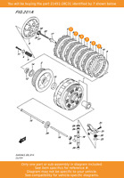 SUZUKI Plate,clutch Driven (t:1.6), 21451-28C31 OEM