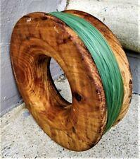 Vintage chunky timber wooden fishing hand reel 19.5cm diameter x 6.5cm deep OAK?