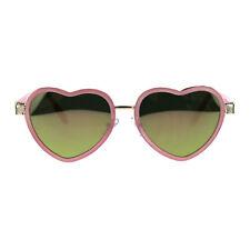 Damen Farbe Spiegel Herz Form Valentine Doppel Rim Sonnenbrille