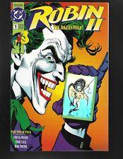 Robin II The Joker's Wild #1 DC Comics 1991 NM- Close up cover Hologram