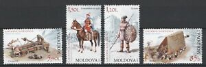 Moldova 2012 Medieval War Weapons Soldiers 4 MNH Stamps