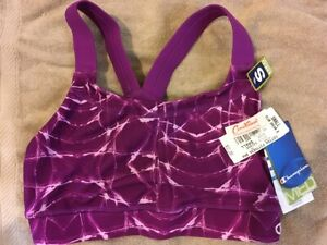 New Champion 7268 Gym Fit Racerback Sports Bra Small Plum print NWT