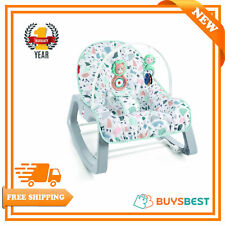 Fisher-Price Infant To Toddler Rocker & Bouncer Portable Baby Seat - GNP99