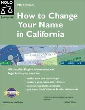 How to Change Your Name in California 9th Edition