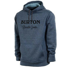 BURTON Mens 2018 Snowboard Snow Oak Pullover Hoodie Winter Sky Heather