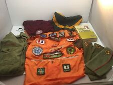 Vintage BOY SCOUTS OF AMERICA Collection SHIRT HATS Badges Handbook Caps & More