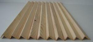 5 Winkelleisten Kiefer/Fichte Bastelholz 28x44x1000mm Bastlerleisten Eckleiste