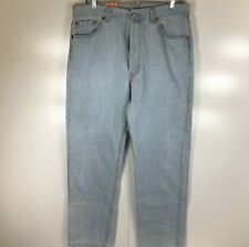 NWT Levi's 501 Men's 36x30 Irregular (34x30) Light Blue Stone Washed Jeans USA