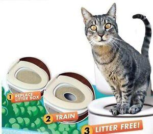 Hygienic Cat & Kitten Trainer Toilet Training Disappearing Seat Litter Tray Box