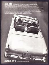 "1962 Chrysler 300H 300-H Convertible photo ""Rare Treat"" vintage print ad"