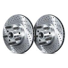 Front eLine Drilled Slotted Brake Rotors /& Ceramic Brake Pads FEC.42173.02