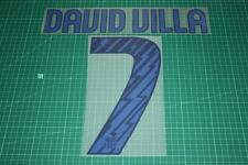 Barcelona 10/11 #7 DAVID VILLA Awaykit Nameset Printing