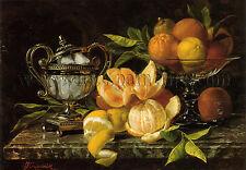 Jean Capeinick Nature Morte Aux Oranges Et Citrons tableau huile toile peinture