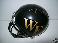 MICHAEL CAMPANARO WAKE FOREST DEAMON DEACONS SIGNED MINI HELMET  W/COA