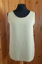 JACQUES VERT pea olive green sleeveless camisole vest tunic top tunic 16 42-44