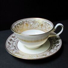 Wedgwood Florentine Gold Cup and Saucer W4219 Peony Shape Multiple Available