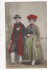 Badische Volkstrachten Gutachthal Vintage Postcard Germany 395a