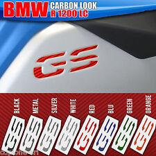 2 Adesivi Serbatoio Moto BMW R 1200 gs adventure LC per incasso Carbon Look