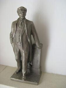 CCCP sculpture statue LENINE russe Soviétique URSS fonte d'aluminium 1960-70