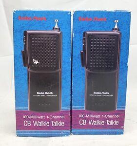Radio Shack Citizen Band Transceiver 21-1614 Walkie Talkie TRC-92 CB Lot Of 2
