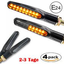 4x LED Motorrad Mini Blinker 12V | Sequentiell Lauflicht | E 24 Smoke Getönt DHL