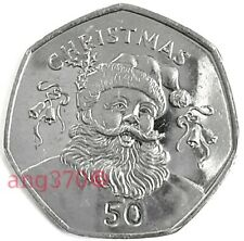 More details for 2017 father christmas 50p coin gibraltar santa unc from sealed bag