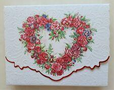 Blank inside 10 Note Card & Envelope Set Embossed Rose