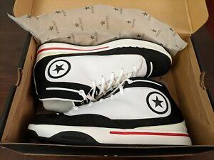 Classic New Flashy Converse Birdseye Ox Mid White Black Shoes Men's US 11.5