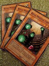 3X Royal Magical Library - various sets - Yugioh Yu Gi Oh! 3 Playset nm to lp