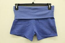 NWT Solow Women's Fold Over Activewear Shorts in Blue Size X-SMALL XS