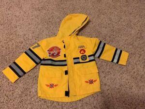 Disney Planes Fireman Jacket 2T Planes Fire Rescue Dusty Raincoat Windbreaker