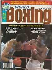 WORLD BOXING MAGAZINE ALEXIS ARGUELLO-AARON PRYOR BOXING HOFers JANUARY 1984
